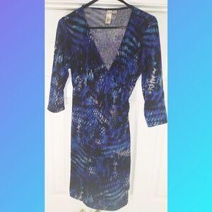 Emma & Michelle Blue & Purple Wrap Dress